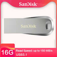 Sandisk cz74 3,1 usb flash drive 32 gb pendrive de 64g 256 gb de memoria 128 gb150 mb/s 16 gb mini disco de u para pc/nota