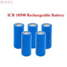 5Pcs/Lot 3.7V 1600Mah Rechargeable Battery 18500 for Lashlight Wholesale Safe Li-Ion