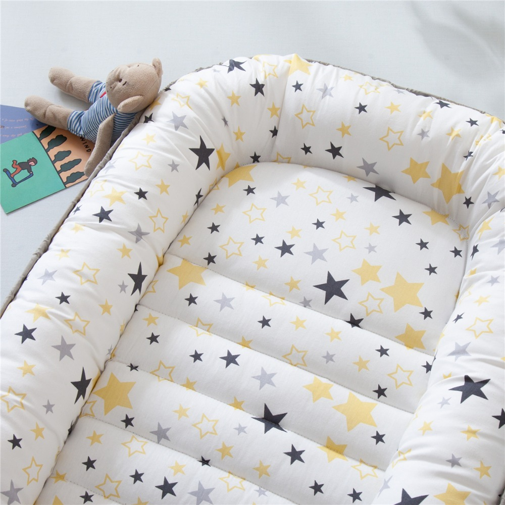 85X50cm Portable Cotton Crib Baby Bed Nest Co Sleeper Baby Lounger Nest Toddler Bed Cuna Bebe Baby Nursery Cot