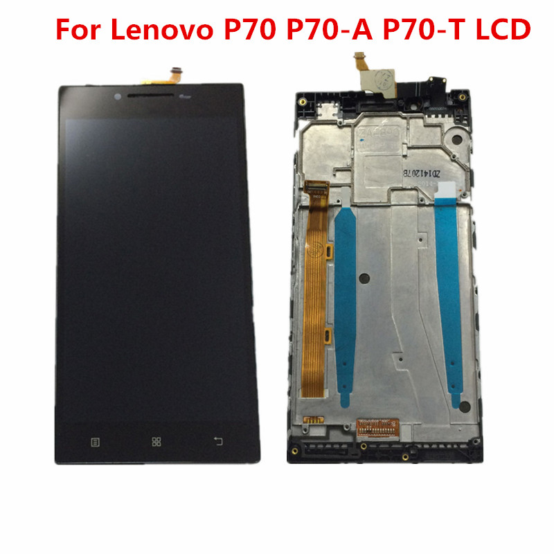 5.0 inch For <font><b>Lenovo</b></font> <font><b>P70</b></font> LCD <font><b>Display</b></font> Touch Screen Digitizer Assembly For <font><b>Lenovo</b></font> P70A <font><b>Display</b></font> with Frame <font><b>P70</b></font>-A <font><b>P70</b></font>-T LCD Replace image