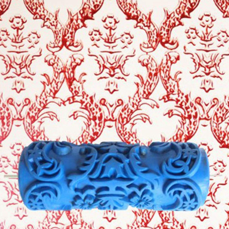Купить с кэшбэком Pattern Brush Decorative Texture Roller with Embossed Plastic Handle with Monochrome Painting Machine for Wall Decoration