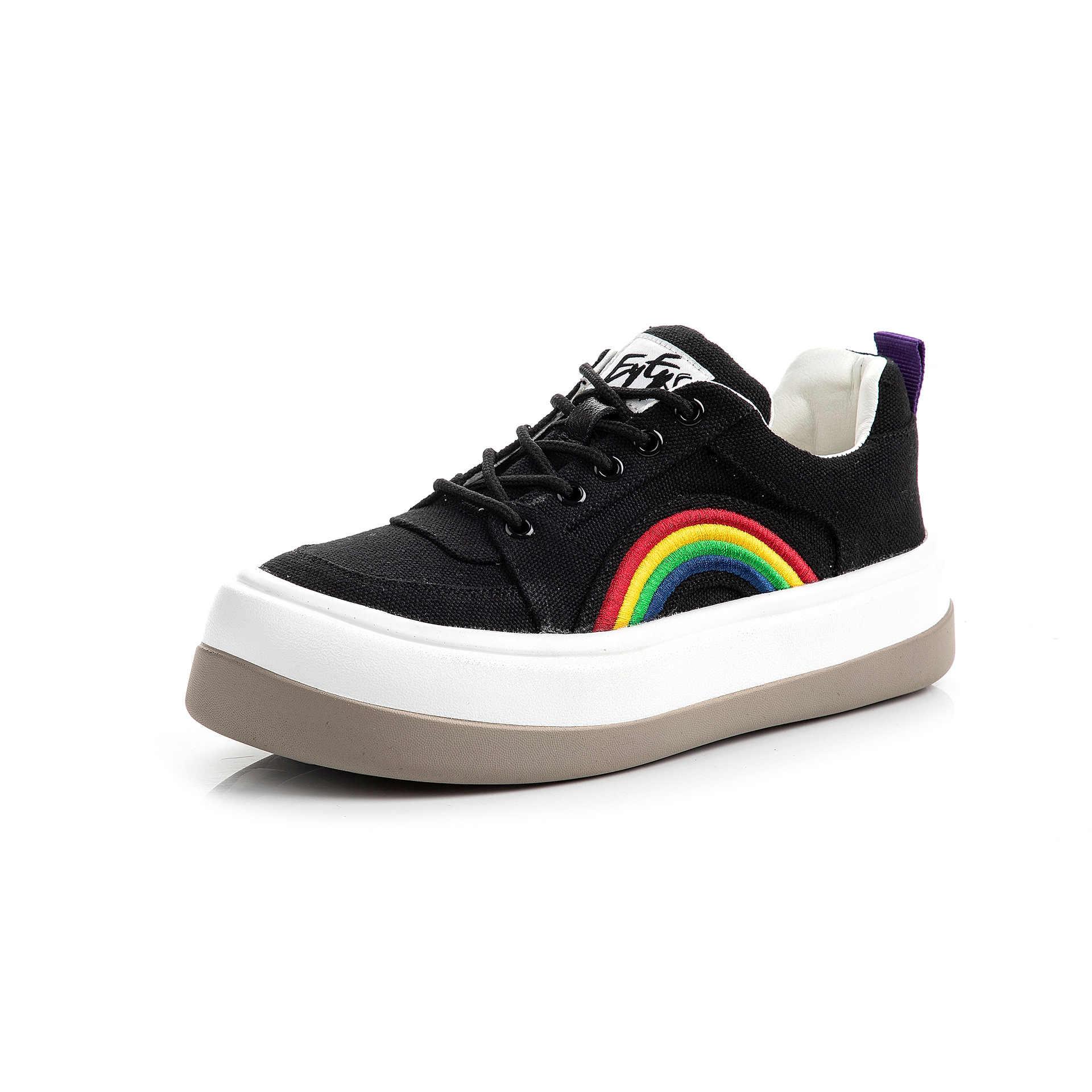 2020 scarpe da tennis della piattaforma scarpe da ginnastica bianche scarpe da donna lace-up scarpe di tela 5 centimetri di spessore suola scarpe casual