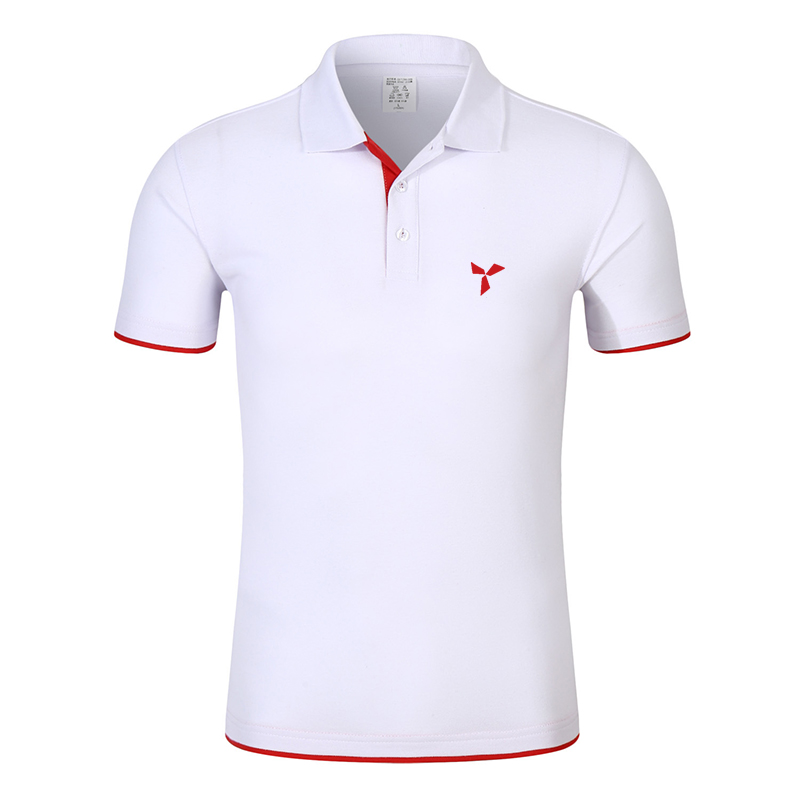 2020 NEW Clothes Men Knitted Polo Shirt Contrast Color Short Sleeve Turn-down Neck Top Breathable Plus Size Sport Men's Polo Tee 8