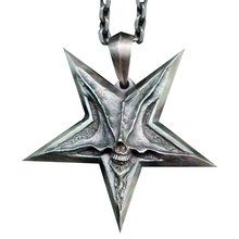 Ювелирные изделия в стиле панк для мужчин ожерелья с пятиконечной