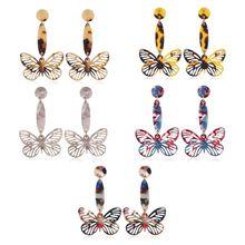 Acrylic Flying Butterfly Dangle Earrings Big Long Drop Earrings Insect Jewelry For Women Fashion Jewerly Charm fashion acrylic dangle long earrings women girls kids gift jewelry pendant charm accessories drop fox earrings
