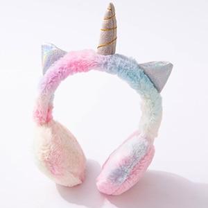 Image 1 - JINSERTA Warm Unicorns Headphones Wired Kids Earphone for Girls Birthday Gift Music Headset with 3.5mm Jack for Smartphone PC