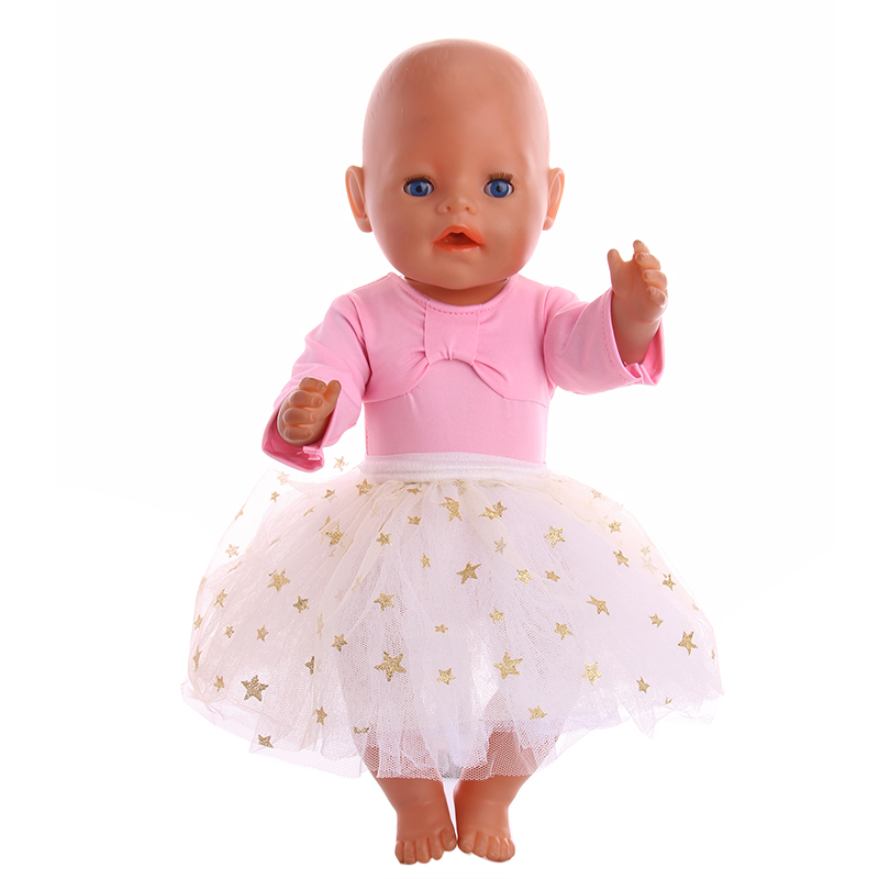 New American Doll Clothes Accessories Pink Swimsuit + Gauze Suit For 18-inch Dolls And 43cm Dolls, Generation, Gifts