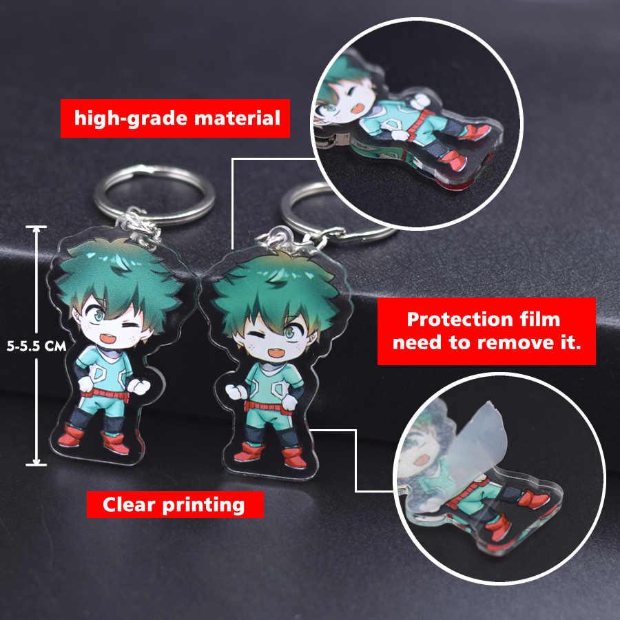Venda quente anime chaveiro chibi 1 pçs de alta qualidade dos desenhos animados chaveiro acessórios encantos pingente acrílico parte um