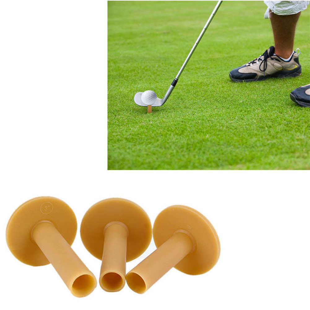 3pcs Mixed Size Mini Sport Durable Outdoor T-shape Play Driving Range Training Golf Tee Rubber Practical Practice Mat