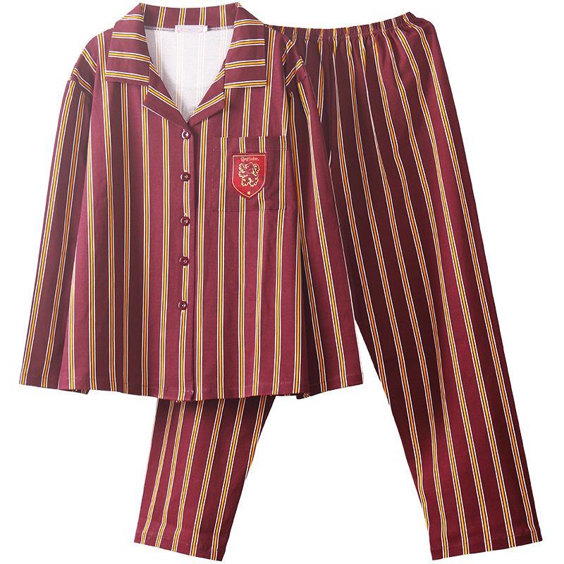 SATCOPY H Potter Hermione Hogwarts Gryffindor Slytherin Home Wear Pajamas Winter Pajamas Summer Pajamas For Adult Kid