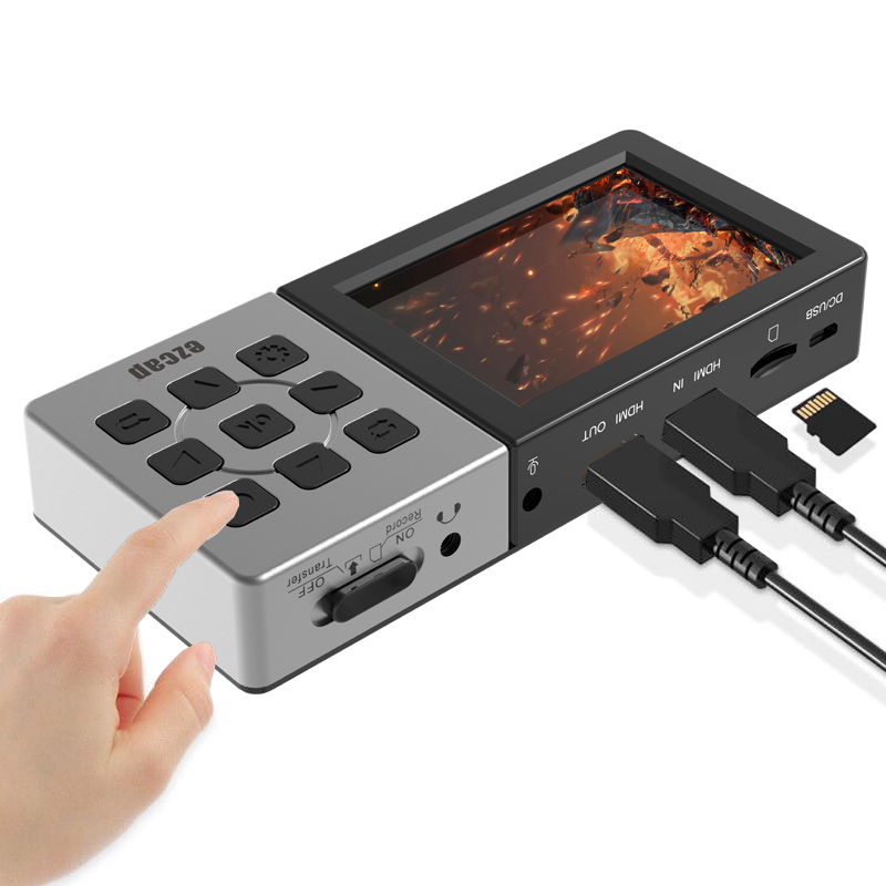 CSMAOYI Ezcap273 HD 1080P 60fps AV//HDMI Audio Video Capture Card Game Recorder Recording Box To TF Card Can Playback Mic In Input Ezcap273
