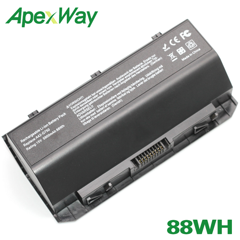 ApexWay 88Wh A42 g750 laptop battery for Asus G750J G750JH G750JM G750JS G750JW G750JX G750JZ CFX70 CFX70J|Laptop Batteries| |  - title=