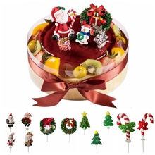 Buy Christmas Multi Shape Insert Christmas Cartoon Cake Topper Plugin Cake Topper Decoration Christmas Decorating Party Gift for Kid directly from merchant!