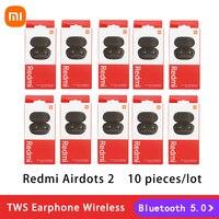 Xiaomi-auriculares inalámbricos Redmi AirDots 2, cascos con TWS, Bluetooth 5,0, reducción de ruido con micrófono, Control IA, Redmi AirDots S