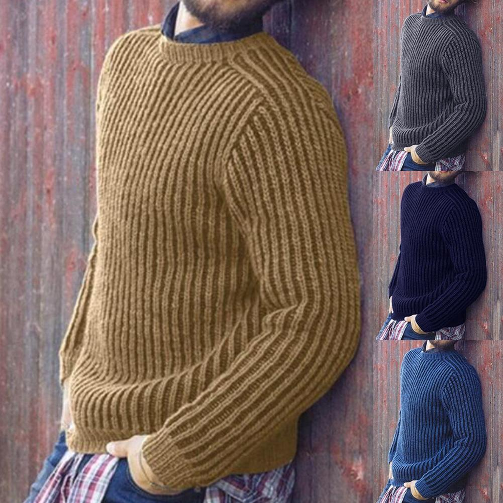 2019 New Autumn Winter Cotton Sweater Men Pullover Casual Jumper For Male Knitted Korean Style Clothes Plus Size