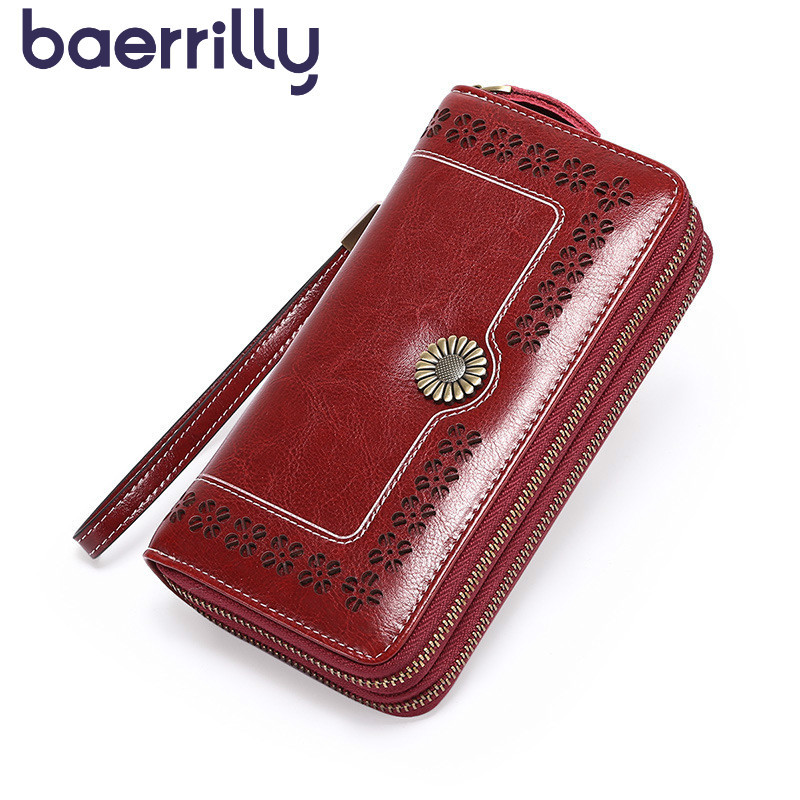 2020 Genuine Leather Women Wallet Long Clutch Bag Rfid Blocking Wallet Ladies Wallet With Cell Phone Pocket Purses And Handbags