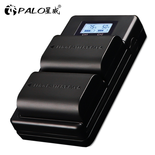PALO LP E6 LP E6N LP E6 2000mAh батарея + LCD USB двойное зарядное устройство для Canon EOS 6D 7D 5D Mark II III IV 60D 60Da 70D 80D 5DSR