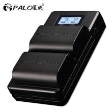 Palo LP E6 LP E6N Lp E6 2000Mah Batterij Mobiele + Lcd Usb Dual Charger Voor Canon Eos 6D 7D 5D mark Ii Iii Iv 60D 60Da 70D 80D 5DSR