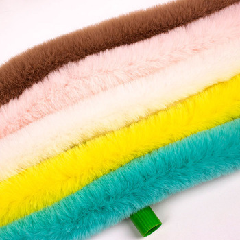 Dobrej jakości sztuczne futro królika Rex wstążki taśmy biały Furry puszyste wykończenia dekoracje dla domu DIY szycia kostium rzemiosło sztuczne futro 1y tanie i dobre opinie Jaggo CN (pochodzenie) Pelt Dyed Garment 1Yard FZFL513 artificial rabbit fur trim