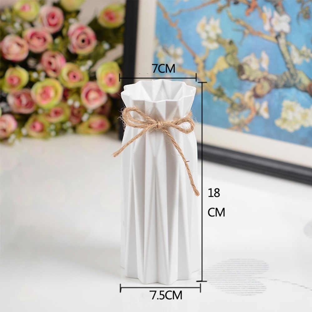 مزهرية بلاستيكية الاسكندنافية هندسية اوريغامي للزهور المزهريات للمنازل النباتات ترتيب وعاء زهرية الديكور الزهرية المنزلية