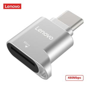 Lenovo D201 USB Card Reader Micro SD OTG Adapter Type C to TF Mini Memory Card Reader for Laptop Phone 480Mbps Cardreader