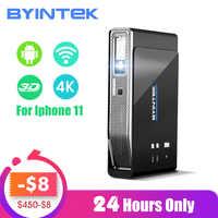 BYINTEK UFO R15 300 calowy inteligentny Android WIFI wideo led przenośny Mini projektor DLP 3D dla Iphone 11 Full HD 1080P kino domowe 4K