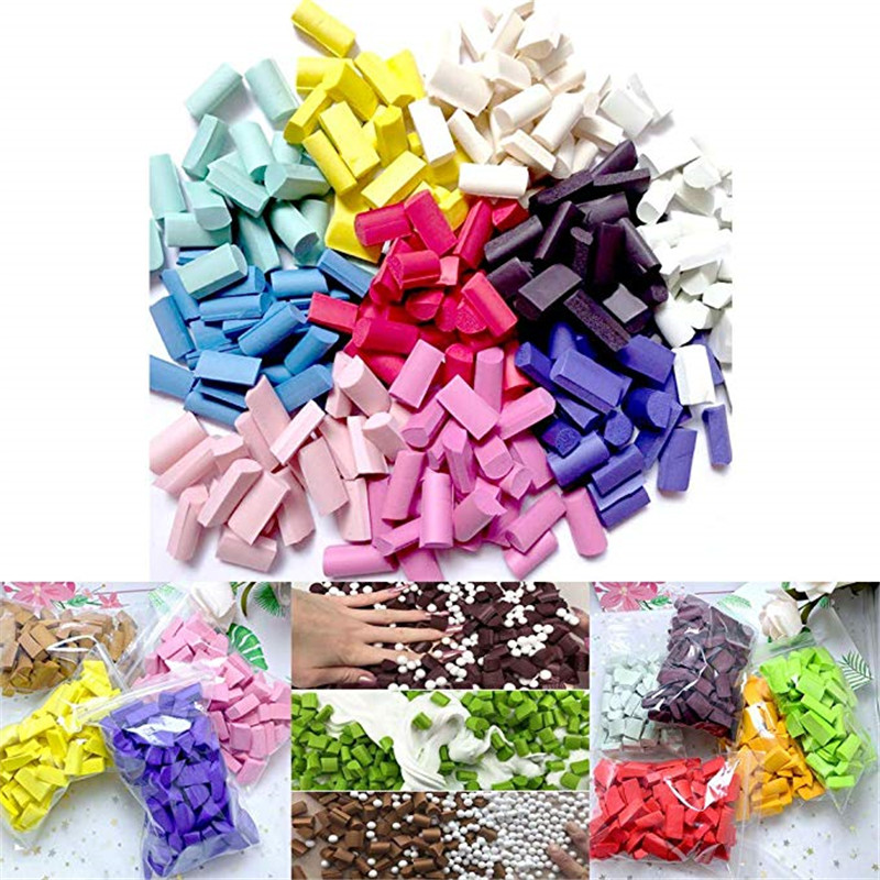 70Pcs Fluffy Slime Supplies Filler Clay Mold Craft Sponge Strip Stuff Foam Beads Slime Kit Putty Kids Toys DIY Slime Accessories in Modeling Clay from Toys Hobbies