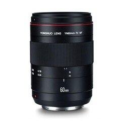 Макрообъектив YONGNUO YN60mm F2 MF Lense для Canon 6D 5D4 5D3 5D2 700D 600D 550D 1100D 1200D T3i T5 T5i DSLR камеры