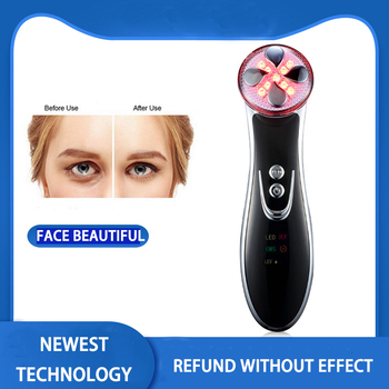 5 Color LED Light  Face Massager Photon Therapy Face Rejuvenation Beauty Device Tightening Pore Face Skin Care Vibration Massage