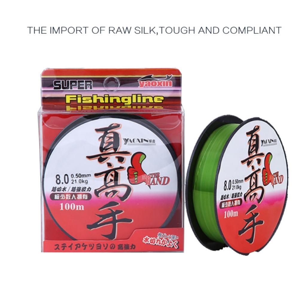 Super Pull Nylon 100m Fluorocarbon Fishing Line Leader Wire Fishing Cord Accessories The Winter Rope Fly Fishing Linesym