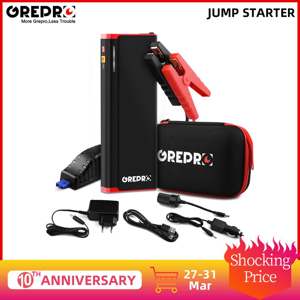 GREPRO Car Jump Starter 2000A Jump Starter Car Booster Battery Auto Starter Vehicle Emergency Start Battery Buster Power Bank