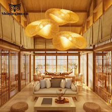 Modern Wood LED Pendant Lights Vintage Home Decor Bamboo Pendant Lamp Living Room Decoration Hanging Lamps Dinning Room Lights free shipping modern bamboo work hand knitted bamboo pendant lamp good price pendant lamp with bamboo shades for dinning room