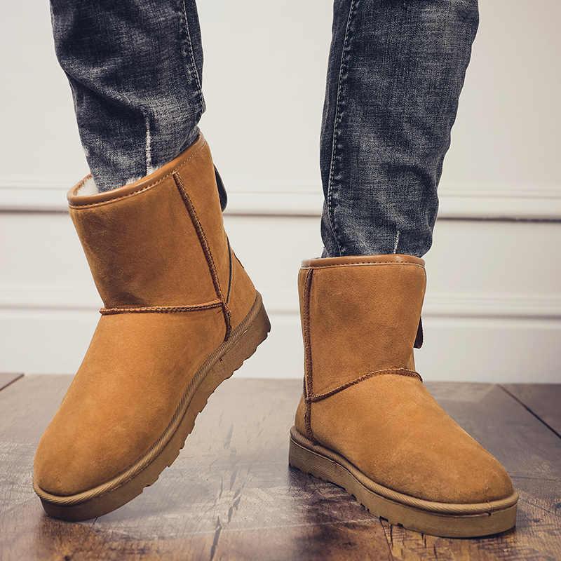 2019 new winter warm snow boots men's