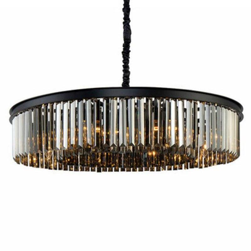 Lustre en cristal de forme ronde Manggic allumant des Lustres Luminaires suspendus pour la lampe de Style américain de cristal de Restaurant