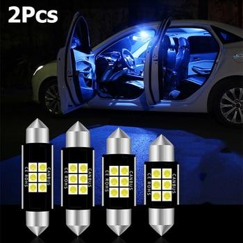 2PCS C5W LED CANBUS Festoon 36mm Error Free 3030 SMD LED Reading Doom Lamp for Audi A4 B6 B8 A3 Q7 TT 8n BMW E90 E60 E46 X5 E53 1