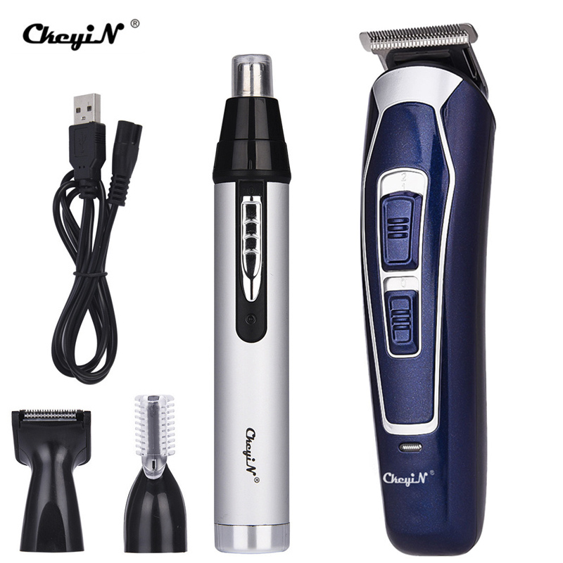 Professional Electric Hair Clipper Nose Trimmer Men Rechargeable Shaver Razor Beard Eyebrow Trimmer Hair Cutting Machine