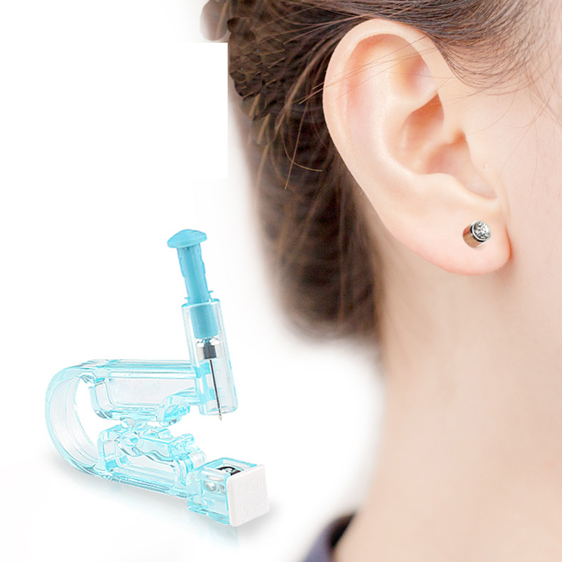 New Send Alcohol Cotton Disposable Ear Piercer Aseptic Manual Control Painless Piercing Gun Clean Easy Women Ear Punch A Hole