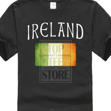 Cheap Printed T Shirts T Shirt Casual Short Sleeve For Men Clothing Summer Panoware Men Irish Flag Ireland T Shirt(China)