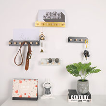 Northern Europe Concise Wall Decoration Pendant Wrought Iron Bring Log Pearl A Hook Caps And Hooks Back Key A Hook(China)