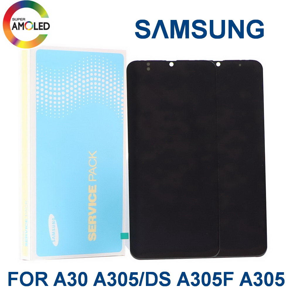 Original Super AMOLED 6.4'' LCD For <font><b>SAMSUNG</b></font> Galaxy A30 A305/DS A305F A305FD A305A LCD Display Touch Screen Digitizer Assembly image