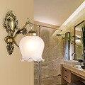 Europäischen Stil Wand Lampe Hotel Hotel Nacht Lampe Korridor Glas Wand Lampe LED Flur Einzigen Kopf Doppel Headed Wand lichter-in Einbauleuchte aus Licht & Beleuchtung bei