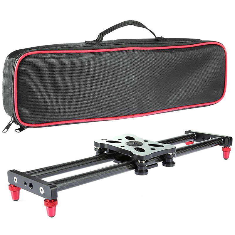 15.7Inch Carbon Fiber Camera Slider Track with 4 Roller Bearing for Video Movie Making SP99