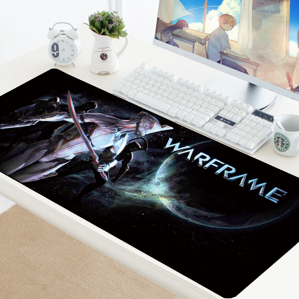 Warframe Large Mouse Pad Gaming Keyboard PC Pad Durable Desktop Mousepad Table Desk Mat Gamer 70X30CM Speed Computer Play Mats