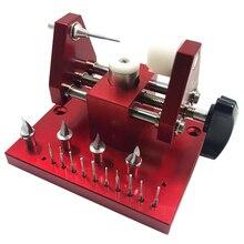 Máquina de cintar Equipado 11 SKD61 Soco Pinos Caixa do Relógio Função de Limite de Desmontagem Mesa Máquina Tampa Inferior Tampa Traseira Aberta