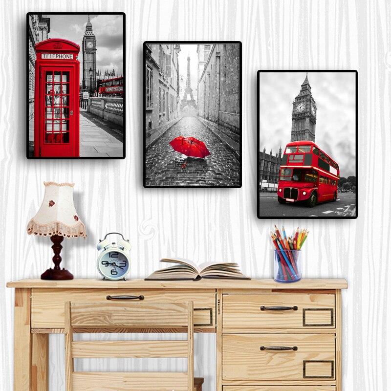 Городской Лондон Париж Пейзаж Плакат скандинавские плакаты и принты картины для гостиной настенные художественные декоративные картины холст печать|Рисование и каллиграфия|   | АлиЭкспресс