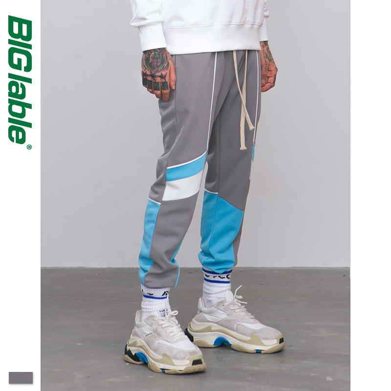 BIG LABLE 2019 New Collection Autumn Jogger Sweatpants Patchwork Hip Hop Streetwear Casual Trousers For Men Women 8850W