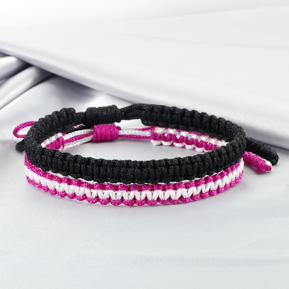 2Pcs/Set Women Woven Bracelet Bohemian Cotton Rope Braided Bracelets For Men Lovers Best Friend Kids Gifts Lucky Fashion Jewelry