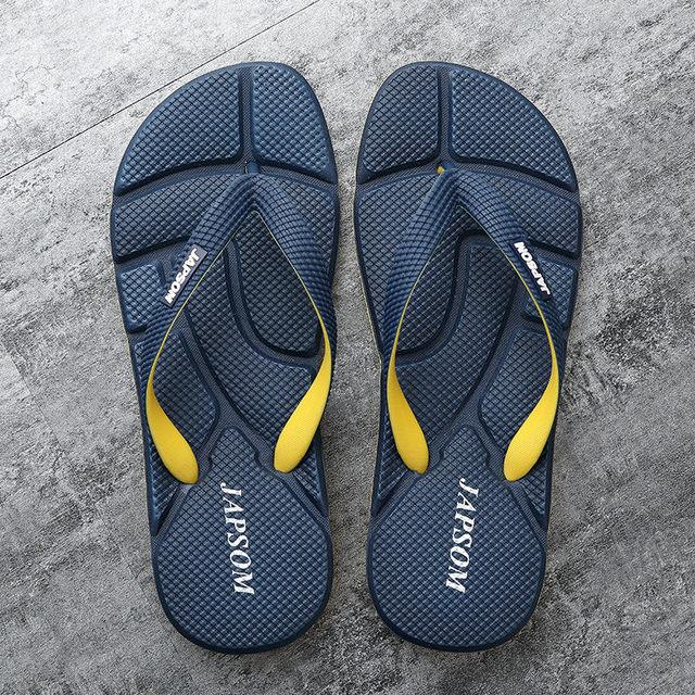 Hot Fashion Blue Massage Slippers Men Flip Flops Big Size 46 Casual Slides Men Non Slip Beach Indoor Slippers Men сланцы мужские 1