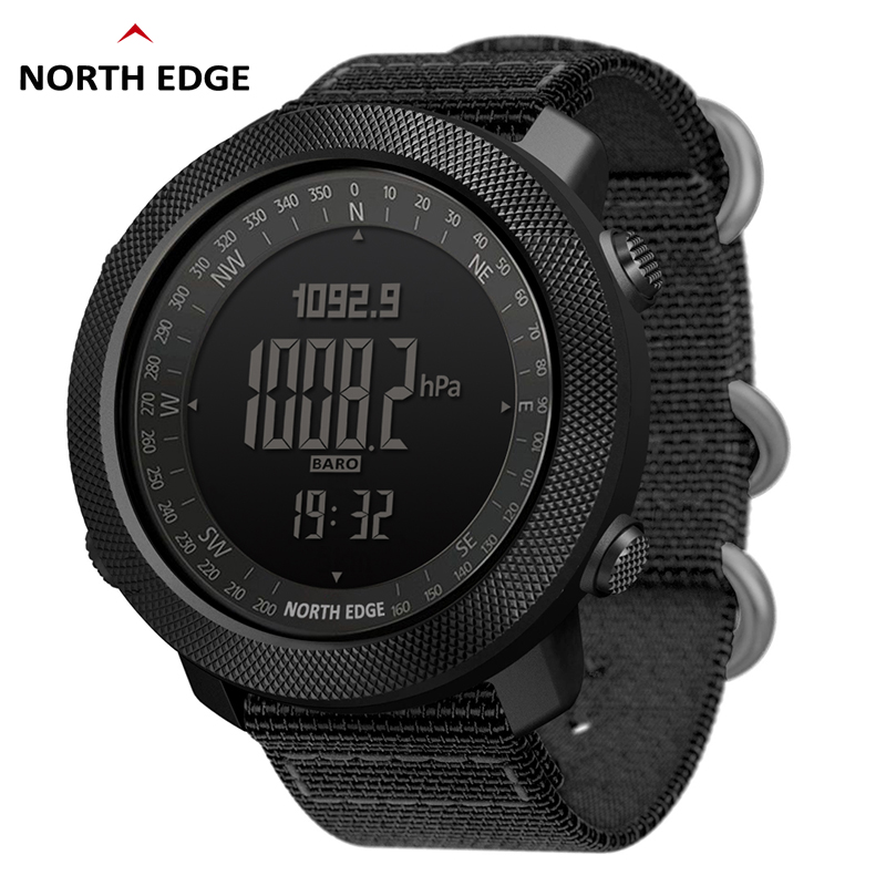 NORTH EDGE hommes sport montre numérique heures de course natation armée militaire montres altimètre baromètre boussole étanche 50m