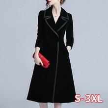 New Arrival Women Fashion Comfortable Velvet Trench Coat Pro